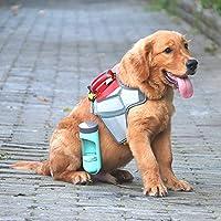 ペットの水のボトル旅行屋外ポータブルフィーダペットペット同伴カップ、犬がぶら下がる屋外フィルター付きカップ,Green