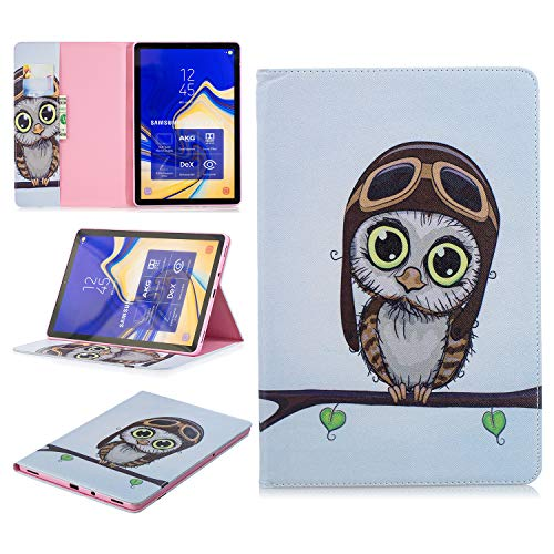 King phone Compatible with Samsung Galaxy Tab S4 SM-T830N/T835N 10.5 inch Premium Vogue Patterns PU Leather Smart Folio Case Shell Wallet Slim Stand Protective Cover - Bird 1