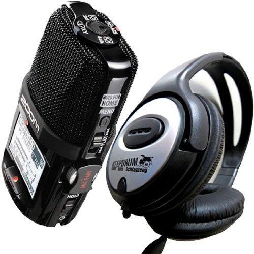 Zoom H2n - Kit registratore H2 Next con cuffie stereo Keepdrum e scheda SDHC da 2 GB