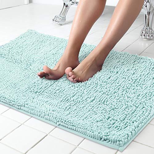 ITSOFT Non Slip Shaggy Chenille Soft Microfiber Bath Mat