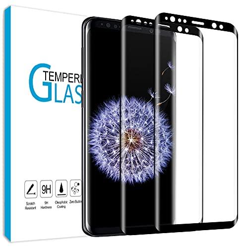 Carantee [2 Stück] Panzerglas für Samsung Galaxy S9, Schutzfolie Verhindert Luftblasen, Hochtransparente, Wasserdichte Panzerglasfolie, Bruchsichere Displayschutzfolie für Samsung S9