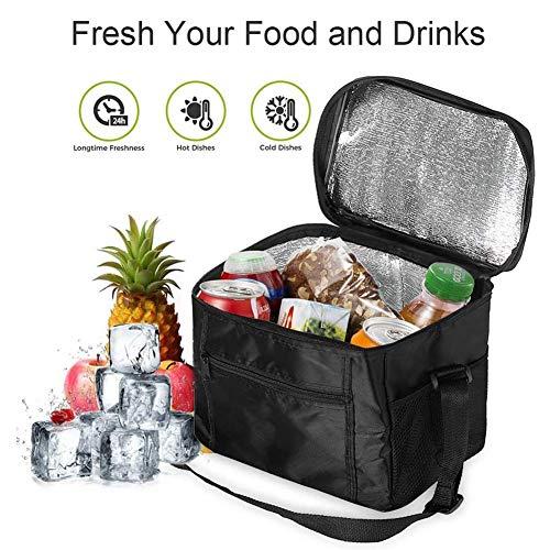 HUATAN Kühltasche Mittagessen Tasche Isoliertasche Cooler Bag Wasserdicht Reissverschluss für Camping, BBQ, Wandern, Picknick