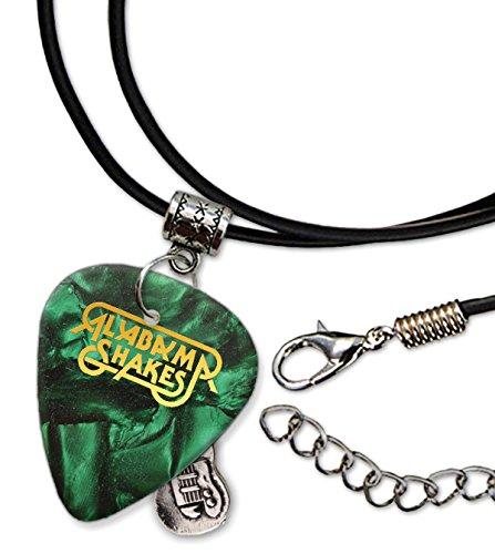 Alabama Shakes Gitarre Plektrum Schnur Halskette Necklace Green Pearl (GHF)