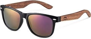 MIAROZ Lunettes de soleil polarisées pour hommes 100% protection UV lunettes de soleil en bois pour femmes