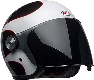 Capacete Bell Helmets Riot Boost Branco Preto Vermelho 58