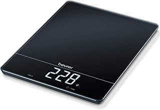 Beurer KS34 Large Kitchen Scale With Extra-High Weight Capacity (15 kg), Tare Weighing Function And Magic LED Display