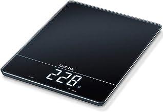 Beurer KS 34 keukenweegschaal, voor nauwkeurig wegen tot 15 kg, met tarra-weegfunctie en Magic LED-display, zwart