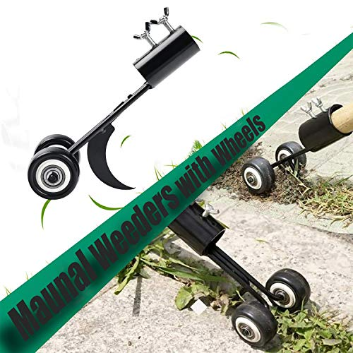 yalanle Weeds Snatcher Crack and Crevice Weeding Tool Weed Puller Household Helper Garden Tools Stand up Manual Weeder Hand Tool-Curved Hook