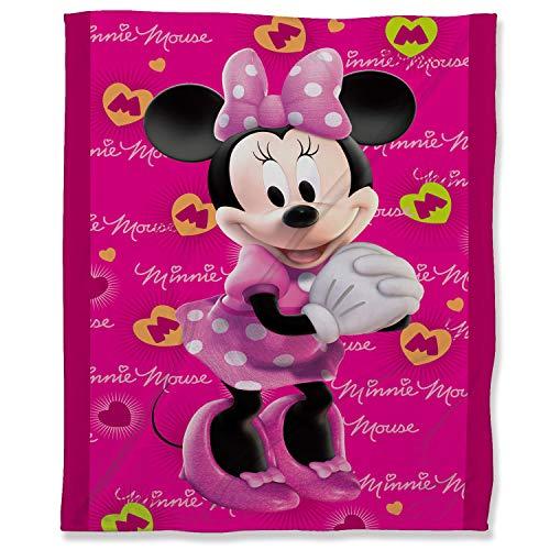 ARYAGO Lightweight Thermal Fleece Blankets 100 x 130 cm, Minnie Mouse Fluffy Cozy Blanket All Seasons Lightweight