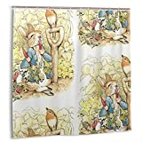 Noick Peter Rabbit in The Garden Beatrix Potter Boutique Shower Curtain Hooks Polyester Home Decor 72x84inch