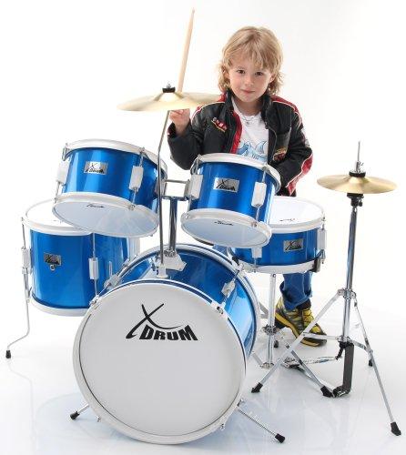 XDrum Junior Kids Drum Batteria per Bambini, Blu