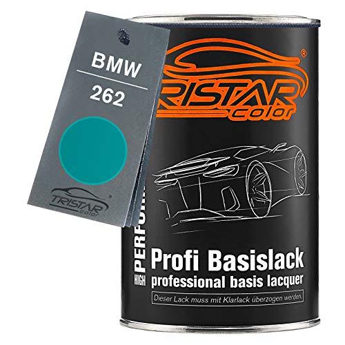 TRISTARcolor Autolack Dose spritzfertig für BMW 262 Neongrün Metallic Basislack 1,0 Liter 1000ml
