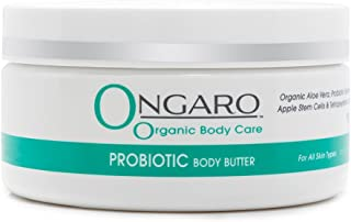 Organic Probiotic Body Butter Restores, Softens, and Moisturizes Dry Skin With Hyaluronic Acid, Aloe Vera, Antioxidant Vitamins E and C | 8 ozs