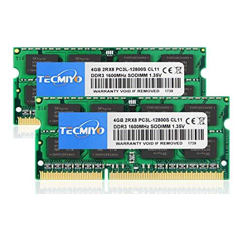 テクミヨ ノートPC用メモリ DDR3 PC3-12800 (DDR3 1600) 4GB×2枚 1.35V(低電圧) 204PinCL11 Non-ECCSO-DIMM Mac対応 永久保証