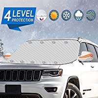 Meddom Windshield Snow Cover with 4 Layers Protection