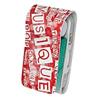 スマコレ IQOS専用 レザーケース 【従来型/新型 2.4PLUS 両対応】 専用 ケース カバー 合皮 カバー 収納 ユニーク 英語 文字 赤 002513