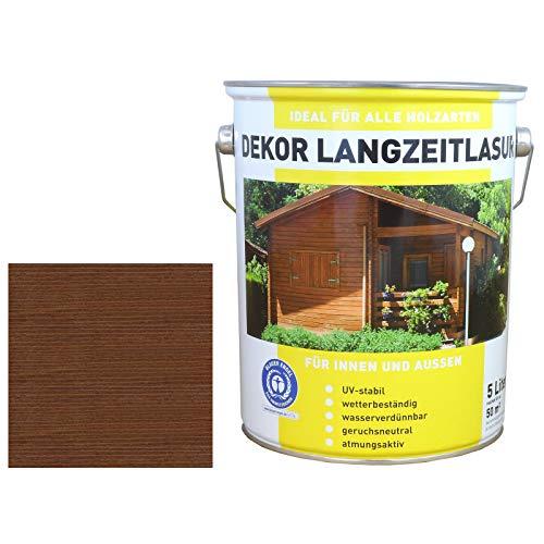 5 Liter Premium Holzlasur LF   Holzschutzlasur   Feuchteschutz   Palisander   made by Wilckens