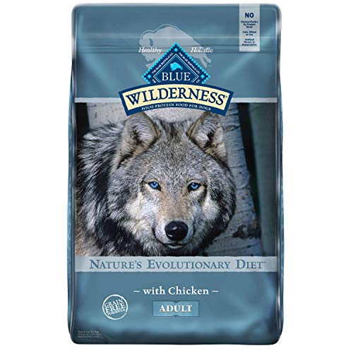 Blue Buffalo Wilderness High Protein, Natural Adult Dry Dog Food, Chicken 24-lb
