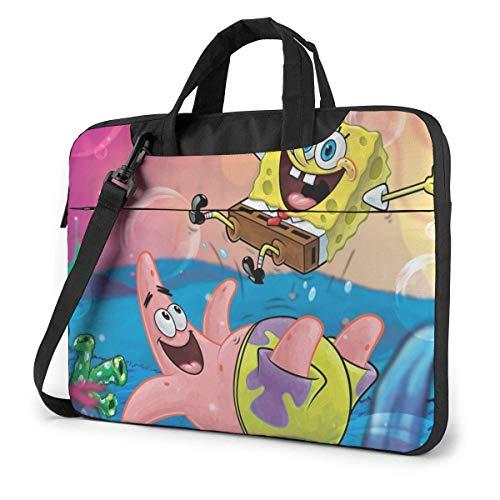 15.6 Inch Laptop Bag Spongebob Laptop Briefcase Shoulder Messenger Bag Case Sleeve