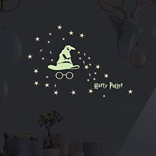 Glow in The Dark Harry Potter Gifts Wall Decal,Harry Potter Peel Luminous Stickers for Kids Boys Girls Nursery Bedroom Mural Decor