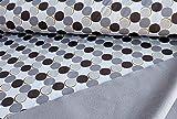 Qualitativ hochwertiger Softshell Stoff mit Kreisen