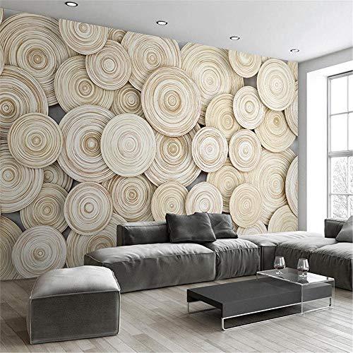 JIYOTTF Papel tapiz fotográfico 3D pegar mural de pared sala de estarBlanco con estilo de madera estampado(W 300 x H 210cm) Papel pintado autoadhesivo Fondo 3D Mural de pared Estudio de biblioteca Fr