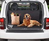 Couch Guard Cargo Backseat Cover, Slipcover, Furniture Protector. Shield & Protects from Dogs, Cats, Pets, Kids, Dirt, Stains. Reversible, Quilted with Elastic Straps. Easy Wash and Dry. Black & Grey