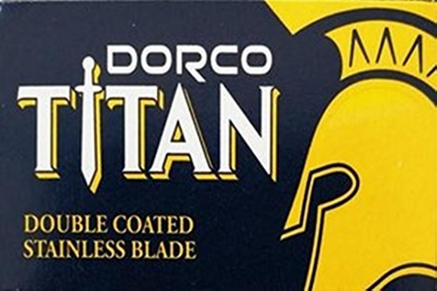 絶対のトラブル鎮痛剤Dorco Titan 両刃替刃 100枚入り(10枚入り10 個セット)【並行輸入品】