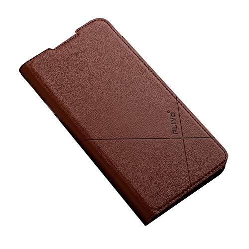 Redmi Note 9T ケース/カバー 手帳型 レザー スタンド機能 カード収納 上質なPUレザーケース シャオミ リドミーノート9T レザーケース おしゃれ アンドロイド スマフォ スマホ スマートフォン ケース/カバー(コーヒー)
