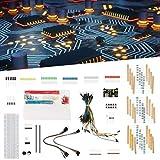 Plástico ABS Categoría Completa Componente electrónico Kit de Inicio Cables de Puente sin Soldadura Placa de Pruebas para entusiastas de la electrónica