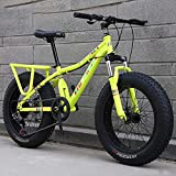 MIAOYO 21 Speed Mountain Bicycle,Suspension De Fourche Avant Frein à Disque,Fat Tire MTB De Course...