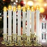 8 Velas LED Sin Llama con Temporizador Remoto Blanco Cálido Requiere Alimentación por Batería, Para la Fiesta, Fecha, Cumpleaños, Iglesia, Decoración de Vacaciones