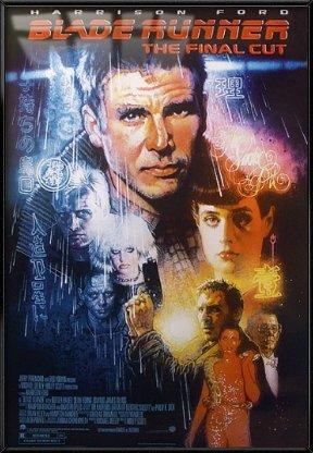 Gerahmtes Filmposter mit Blade Runner, Größe: 68,6 x 99,1 cm
