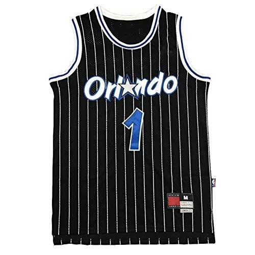 XGYD 1 # Hardaway - Camiseta de baloncesto para hombre, diseño retro clásico bordado de baloncesto, ropa deportiva, sin mangas, de secado rápido, cómoda y transpirable, color negro