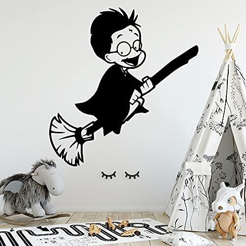 Pegatinas de pared de Flying Boy personalizadas Pegatinas de pared de dormitorio de habitación de niños creativas personalizadas -50.4x52.2cm