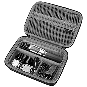 ProCase Hard Travel Case for Philips Norelco Multigroom Series 3000 5000 7000 MG3750 MG5750/49 MG7750/49 Men s Electric Trimmer Shaver and Attachments -Black