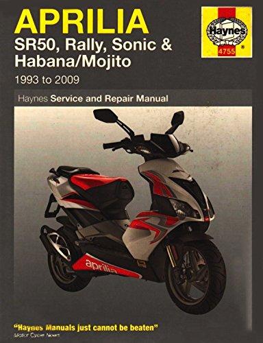Aprilia Sr50, Rally, Sonic, Habana & Mojito Scooters, '93-'09 (Haynes Powersport)