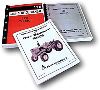 Set Allis Chalmers 170 Tractor Service Parts Operators Manuals Repair Catalog