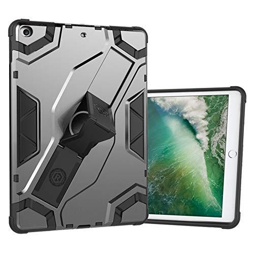 QiuKui Tab Cover For iPad Air 2/iPad 6 A1566 A1567, Heavy Duty Shockproof Tablet Case Hybrid Armor Case For Air 1/iPad 5 A1474 A1475 A1476 (Color : Gray, Size : Air 1/iPad 5)