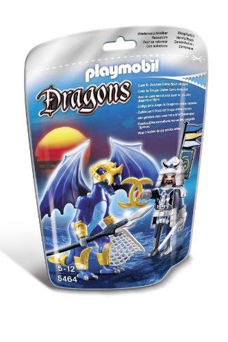 PLAYMOBIL Dragones - Dragón Hielo con Guerrero, Juguete Educativo, Multicolor, 17 x 8 x 24 cm, (5464)