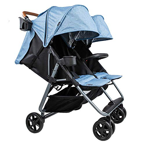 Cheapest Price! The Twin+ Luxe (Zoe XL2) - Best Double Stroller - Everyday Twin Stroller with Umbrel...