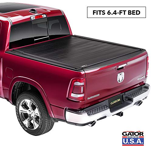 """Gator Recoil Retractable Truck Bed Tonneau Cover   G30245   Fits 2019 - 2020 New Body Style Dodge Ram 6' 4"""" Bed   Made in the USA"""