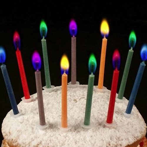 Angel Flames Coloured Birthday Cake Candles