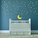 ufengke Pegatinas de Pared Luna y Estrellas Vinilos Adhesivos Pared Buenas Noches para Dormitorio Habitación Infantiles Niños Bebé