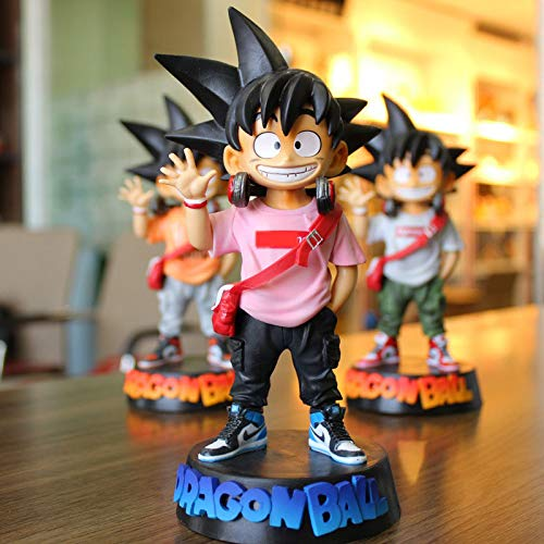 WXIAO HMMOZ Dragón Bola Goku Kakarotto Figurine DBZ Goku PVC Figuras de acción Toys Cos Juvenil Goku Anime Figurine Modelo Brinquedos Niños Regalos Animado Figura (Color : Pink no Box)