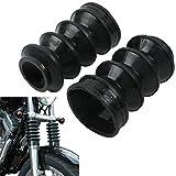 DLLL 39mm de goma botas de horquilla delantera Shock polainas para Harley Davidson Iron 883XL883Sportster 1200