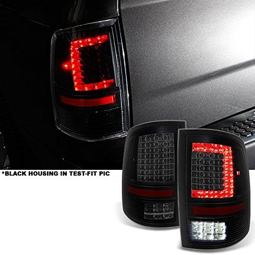 AKKON - Fits 2009-2018 RAM 1500 | 10-18 2500/3500 C-Shaped Black Smoked LED Tail Lights Replacement