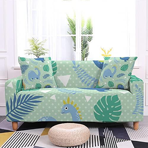 WXQY Funda de sofá elástica con diseño de Dinosaurio Antideslizante Todo Incluido Funda de sofá elástica en Forma de L Funda de sofá de Esquina A2 1 Plaza