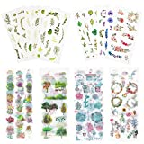 Watercolor Stickers Set (Assorted 600+ Pieces, 36 Sheets) -...