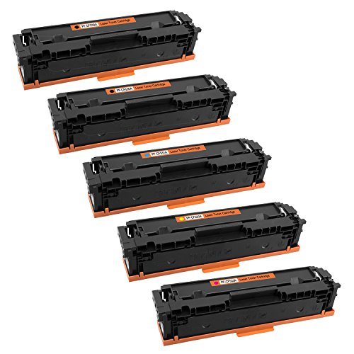 Tito-Express PlatinumSerie 5X Toner-Patrone kompatibel mit HP CF530A CF531A CF532A CF533A 205A | Geeignet für Color Laserjet Pro MFP M180 Series M180N M180FNDW M181FW